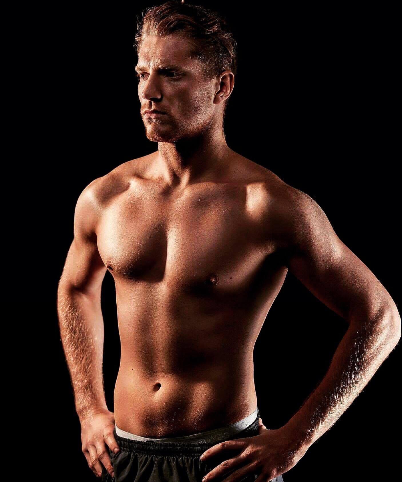 Adam topless waiter