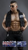 Police costume Nathan Wyld stripper