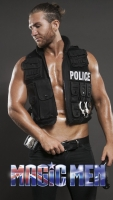 Police costume with stripper Ash Summers