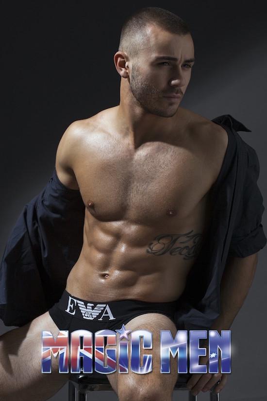 Topless waiter Francesco