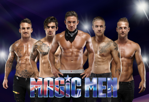 Magic Men strip that comes with the hens night special