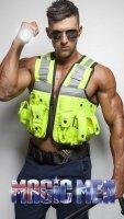 Policeman Nathan Wyld stripper
