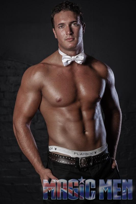 Topless waiter Andrei
