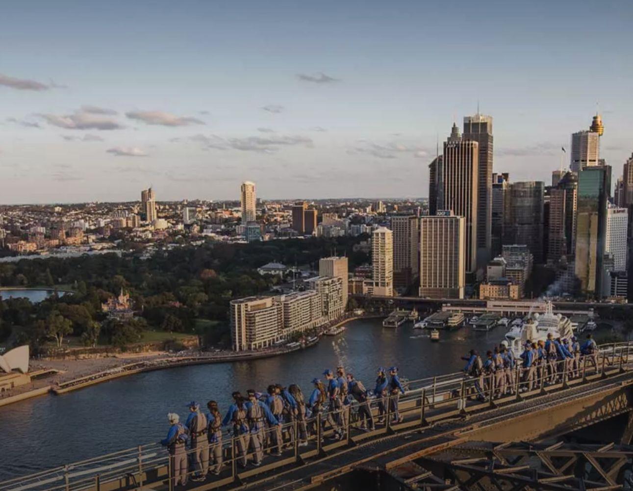 bridgeclimb sydney views