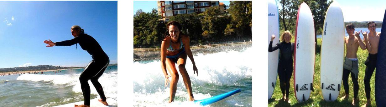 manly surf school girls surfing