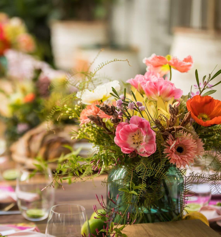 flower arrangement vase on table