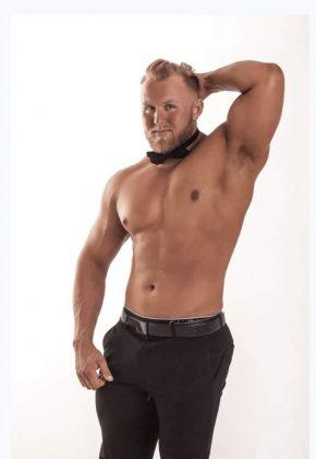 Tyler Perth topless waiter