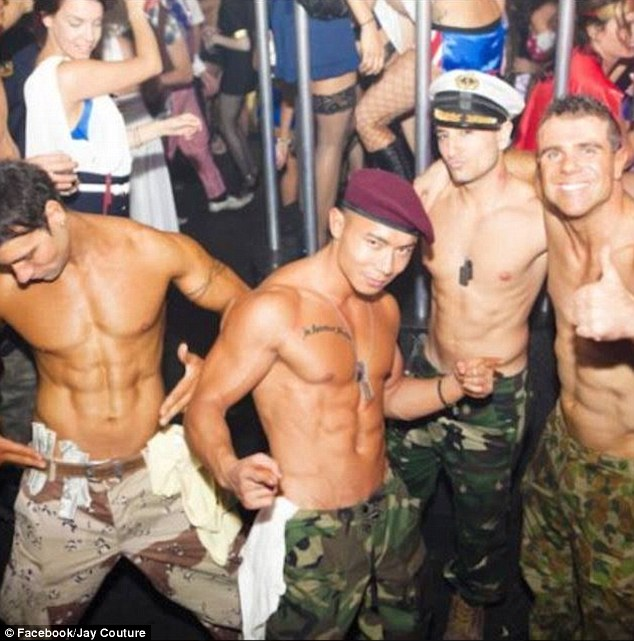 soldier male strippers